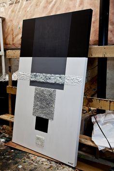 Оригинальные черно белые абстрактные картины современных по OsnatFineArt