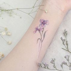 awesome Women Tattoo - Iris flowers on wrist by Mini Lau... Check more at http://tattooviral.com/women-tattoos/women-tattoo-iris-flowers-on-wrist-by-mini-lau/