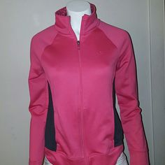 SALEDanskin zip front athletic jacket Pink and black Danskin zip front athletic jacket, side slant pockets. Black panels on sides. 100% of sales go to a fellow pusher who has been left destitute due to ex husband fleeing while being indicted. With 3 kids she was a homemaker for 16 years now she has to sell everything with her home in foreclosure her car repossessed 100% of all my sales go to help this family because he stopped paying child support and alimony after fleeing with over 25…