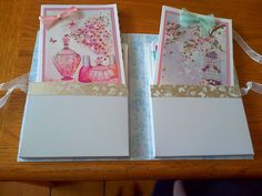 Stationery set contains 6 handmade cards (Hunkydory paper and toppers)