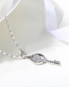 #AdoreWe #VIPme (VIPSHOP Global) D3❤️Designer Accessories D3 Key Heart Necklace - AdoreWe.com
