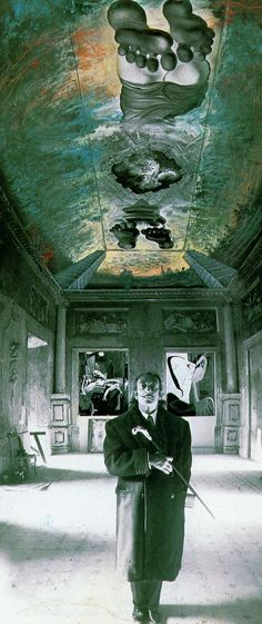 Salvador Dali - Ceiling of the 'Palace of the Wind' (gouache on photographic paper, circa 1973)
