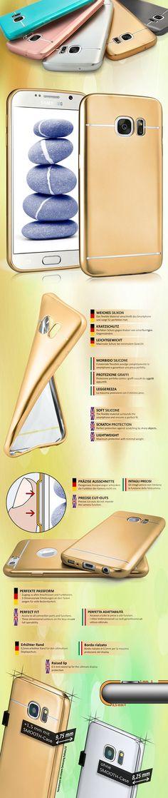Smooth Case für Apple, Samsung, Huawei | Silikon Hülle mit Matt-Metallic Effekt | Dünne Handy Schutz Tasche von OneFlow | Back Cover in Gold