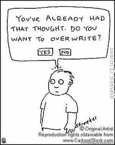 You've already had that thought. Do you want to overwrite? by Streeter, Betsy