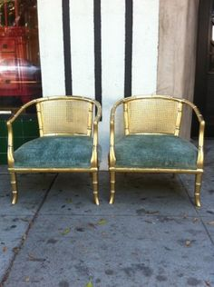 Love these vintage gold chairs $255/each