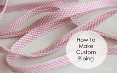 Last week, I shared how to add piping into a project (a pillow, in that case) and today I wanted to share this tutorial showing you how to MAKE piping – for those times that you need just the right touch on your project.  Piping really adds a nice finished touch to home decor, garments,... Read More »