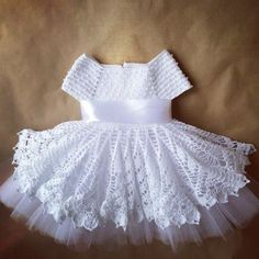 Crochet children dress with graphic - Free Patterns