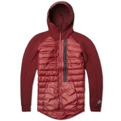 Nike Tech Fleece Aeroloft Jacket (Team Red & Burgundy)