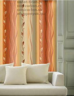 Mondego Orange (SSIC) - Świat Firan Dom, Curtains, Orange, Home Decor, Blinds, Decoration Home, Room Decor, Draping, Home Interior Design