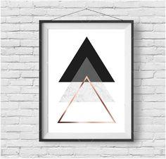 Triangles Print Minimalist Art Contemporary Print by PrintAvenue