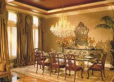 Love The Wall & Drapes Dining Room Drapes, Wall Drapes, Chairs, Dining Room Curtains