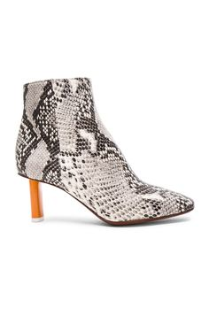 VETEMENTS Python Embossed Ankle Boots in Python & Orange | FWRD