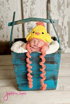 Baby Chick Crochet Hat By jennyandteddy - Free Crochet Pattern With Website Registration - (craftsy)