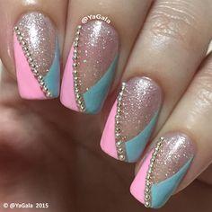 Simple Elegant Nails by Yagala - Nail Art Gallery nailartgallery.nailsmag.com by Nails Magazine www.nailsmag.com #nailart