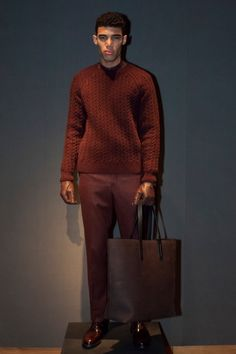 A look from the Gieves & Hawkes Fall 2015 Menswear collection.
