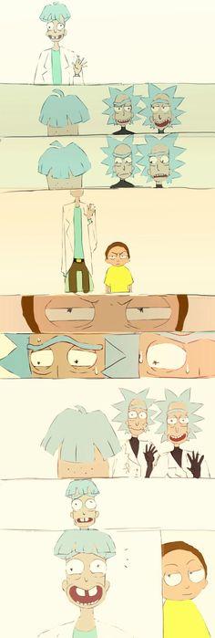 Rick And Morty Comic, Rick And Morty Poster, Iphone Wallpaper Rick And Morty, Ricky Y Morty, Wolf Comics, Rick And Morty Characters, Gravity Falls Comics, Old Cartoons, Cute Comics