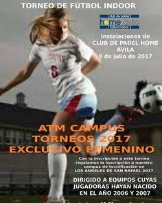 ESPECTACULAR TORNEO SOLO PARA CHICAS. Tenemos más torneos en otras zonas. Consulta nuestra web.  #atmcampus