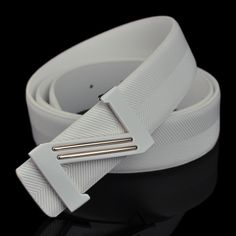 All match strap genuine leather male belt the trend of male of paragraph letter white male strap cowhide pocket Waist Belts, Men's Belts, Leather Belts, Leather Men, Golf Apparel, Golf Outfit, Cosplay Wigs, Gold Studs, Belt Buckles