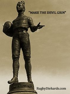 """Rugby Diehards: """"Make the Devil Grin"""". Rugby Quotes, Rugby Poster, Womens Rugby, Rugby Sport, Original Quotes, Game 3, Printable Planner, Printables, Ready To Play"""