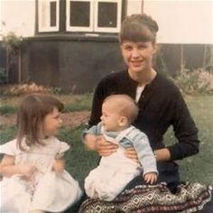 This is Sylvia Plath with her children.