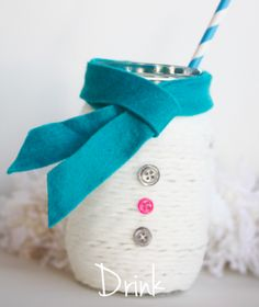 Cute Snowman Jar Easy Peesy to make and make a cute gift for a favorite teacher with some candies in it!
