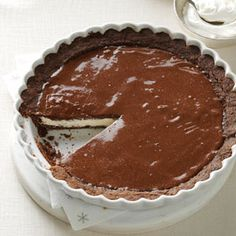 Chocolate Eggnog Pie Recipe from Taste of Home -- shared by Keri Whitney of Sunnyvale, Texas