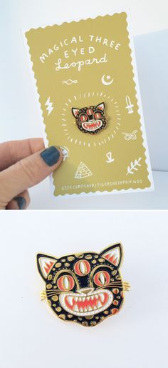 Magical Three Eyed Leopard pin