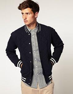 ASOS Quilted Varsity Jacket - StyleSays
