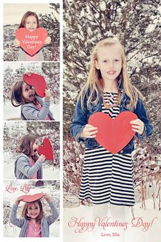 "GREAT idea Print onto a 6"" x 4"" photo from Wal-Mart (9 cents per photo). Cut card into 2 pieces for kids to hand out to their friends & class-mates. Write the names of whom you are giving the Valentine to, in the red heart area.  Total price for 64 cute & customized valentines: $2.88. This is a fun way to save money on Valentine cards this year."