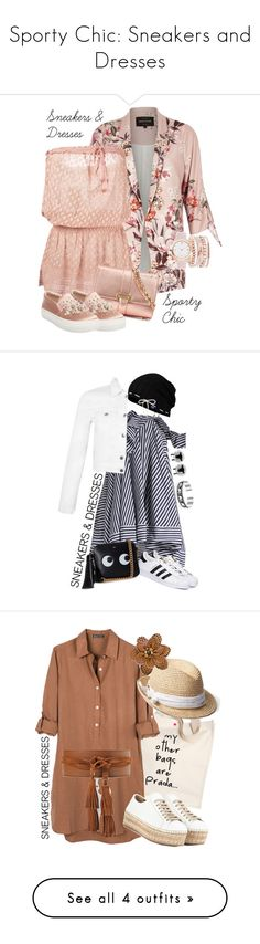 """""""Sporty Chic: Sneakers and Dresses"""" by tina-kene ❤ liked on Polyvore featuring River Island, Melissa Odabash, Aspinal of London, Steve Madden, A.X.N.Y., Bling Jewelry, MSGM, adidas, Anya Hindmarch and Keds"""