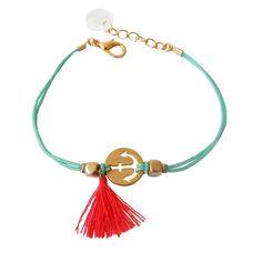 http://www.plumesdabeille.fr/ bracelet mint motif ancre et pompon