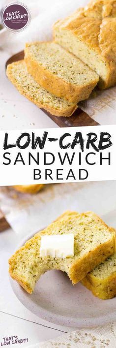 Looking for a good loaf of low carb sandwich bread? This easy-to-make loaf is both delicious and totally great for a low carb / keto eating plan! Low Carb Sandwich Bread Recipe, Low Carb Sandwiches, Lowest Carb Bread Recipe, Turkey Sandwiches, Best Low Carb Recipes, Low Sugar Recipes, Low Carb Dinner Recipes, Sugar Foods, Diet Recipes