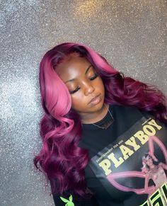 Purple hair weave sew in 33 Ideas Permanent Purple Hair Dye, Dyed Hair Purple, Purple Hair Black Girl, Purple Weave, Semi Permanent, Baddie Hairstyles, My Hairstyle, Braided Hairstyles, Colored Weave Hairstyles