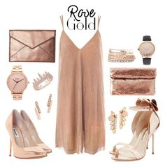 """""""2 Rose Gold"""" by leafashionpro ❤ liked on Polyvore featuring Sans Souci, Sophia Webster, Nixon, Anne Sisteron, ZoÃ« Chicco, Dune, Kendra Scott, Jessica Carlyle, Rebecca Minkoff and Charlotte Russe"""