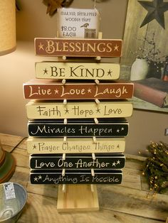Distressed wooden signs