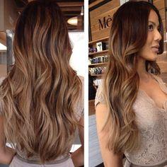 Beautiful balayage by @balayagebyadriana and cut by @adriancastillohair. #cut #hair #balayage #brunette #haircolor #mechesalonla