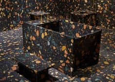 Multicoloured Manmade-Marble Bathroom by Max Lamb1