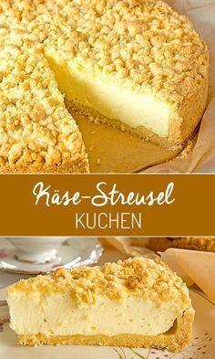 Käsekuchen mit Streuseln Super****(200g Zucker im Quark,Zitronensaft,Rum,Tongab. )Boden gut backen!!