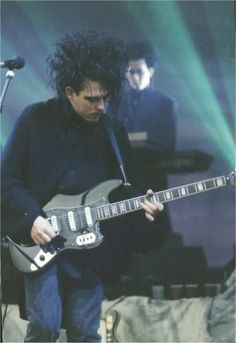 Robert Smith w his Fender Bass VI