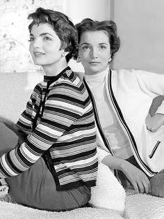Jackie with her sister, Lee Radziwill