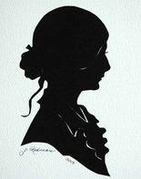 Antique Warehouse hosts silhouette artist Joyce Redman from 10 a. Silhouette Artist, Vintage Silhouette, Miniature Portraits, Book Cover Art, Black Paper, Vintage Love, Sculpture, Creative Art, Folk Art