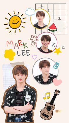 Nct 127 Mark, Mark Nct, Aesthetic Iphone Wallpaper, Aesthetic Wallpapers, Artistic Room, Peach Wallpaper, Chibi Sketch, Nct Doyoung, Julia