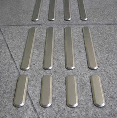 Tactile guidance paving stainless steel PODOINOX ARGOS-Services