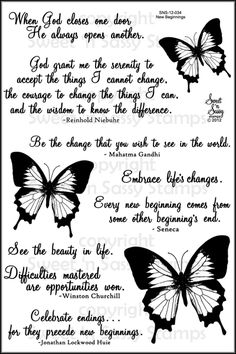 New Beginnings Clear Stamp Set - Sweet 'n Sassy Stamps $15