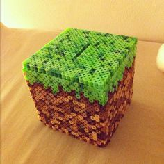 Minecraft Perler bead bank.