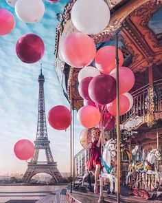 """The Tour Eiffel is truly a sign of Paris. It is the most recognizable feature of the city and, in reality, the world. Located in the arrondissement, the Eiffel Tower was a marvel of """"contemporary"""" engineering. Paris Photography, Travel Photography, Eiffel Tower Photography, Woman Photography, Amazing Photography, Fashion Photography, Paris Pictures, Paris Images, Lake Pictures"""