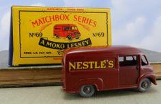 Vintage Matchbox Car No 69 Nestle's Van