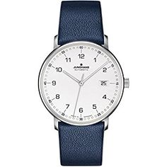 3e6c68fc4af2 Junghans Form A Automatic Date Matte Silver Dial Blue Leather Strap  027 4735.00 Review Wrist