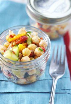 Vegetarian Chickpea Salad Recipe by Jennifer Leal @Jennifer Leal