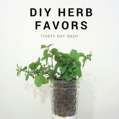 Thirty Day Dash | DIY Wedding and Day-of Wedding Services | DIY Herb Favors. www.thirtydaydash.com